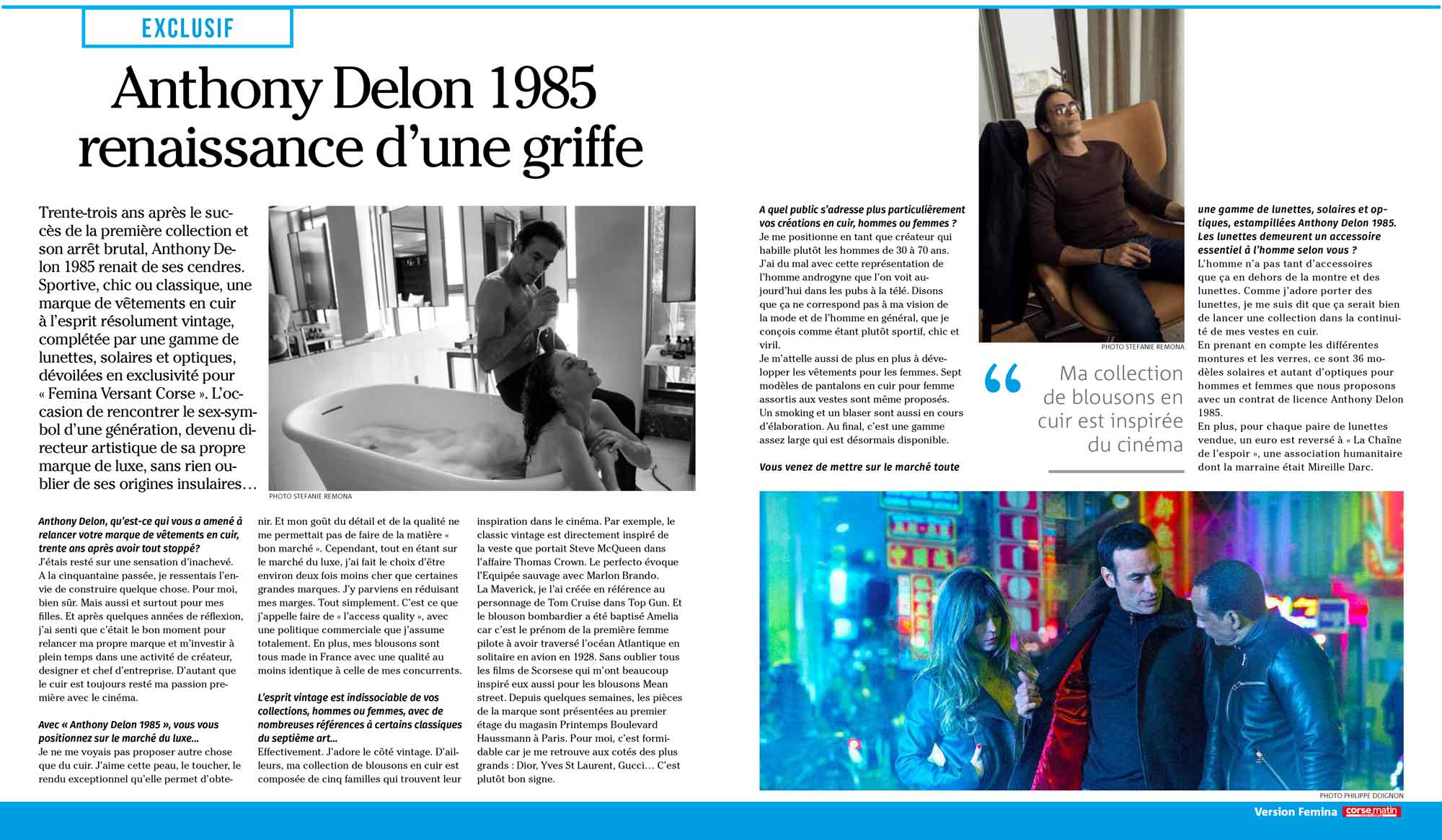 Presse Anthony Delon 1985